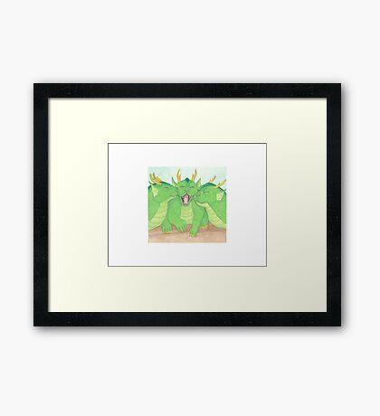 Cuddle Dragons Framed Print