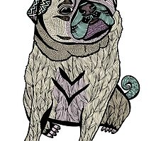 Ares The Hipster Pug by Pom Graphic Design