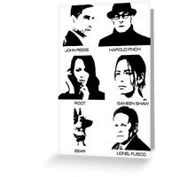Person of Interest - Team Machine Greeting Card