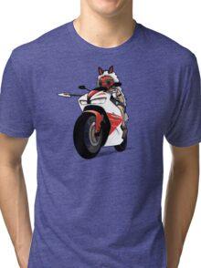 Biker Princess Mononoke Tri-blend T-Shirt