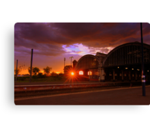 Sunset, Darlington Bank Top Railway Station, 11th June 2014 Canvas Print