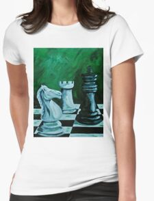 Knight takes King  Womens Fitted T-Shirt