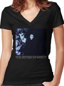 The Sisters of Mercy - Lucretia Women's Fitted V-Neck T-Shirt