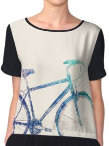 I Want To Ride My Bicycle Chiffon Top