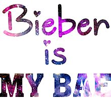 Bieber Is My Bae - Justin Bieber  Photographic Print