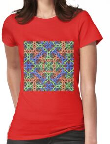 Knitted One - 3-D Fractal Womens Fitted T-Shirt