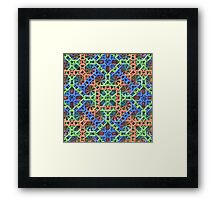 Knitted One - 3-D Fractal Framed Print