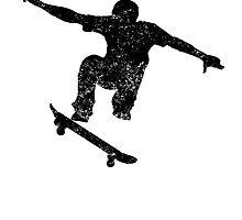Distressed Skateboarder Silhouette by kwg2200