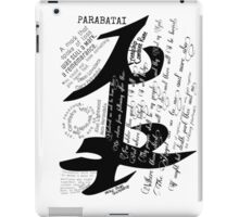 Parabatai Rune with quotes and Oath iPad Case/Skin