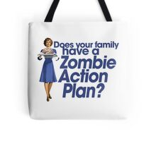 Zombie action plan Tote Bag