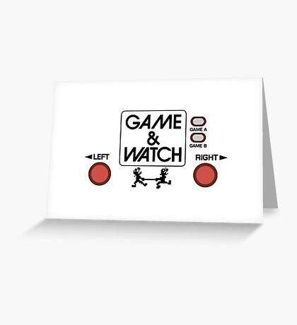 NINTENDO GAME & WATCH Greeting Card