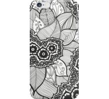 Zentangle Flowers and Leaves iPhone Case/Skin