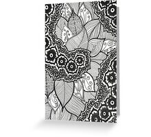 Zentangle Flowers and Leaves Greeting Card
