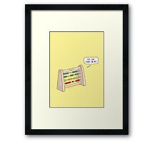 The Ever-Reliable Abacus Framed Print