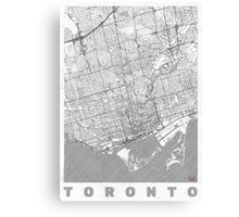 Toronto Map Line Canvas Print