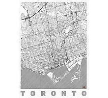 Toronto Map Line Photographic Print
