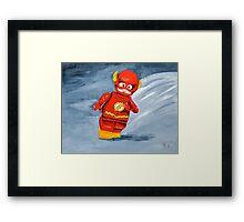 Lego Flash  Framed Print