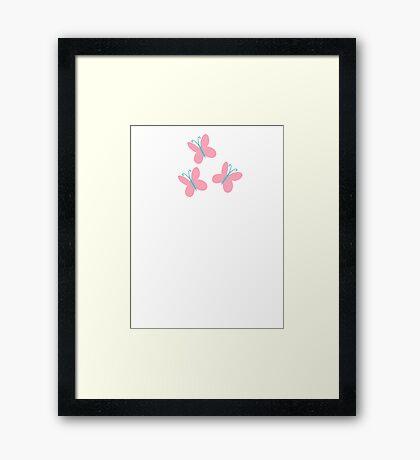 Cutie Mark - Fluttershy Framed Print