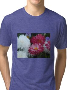 Pink and white Daisy Tri-blend T-Shirt