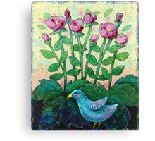 Bluebird of Whimsy Canvas Print