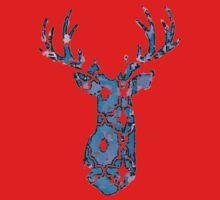 Watercolor Patterned Deer Design One Piece - Short Sleeve