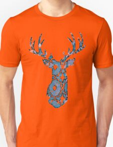 Watercolor Patterned Deer Design Unisex T-Shirt