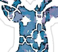 Watercolor Patterned Deer Design Sticker