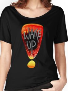 Wake Up - Black Women's Relaxed Fit T-Shirt