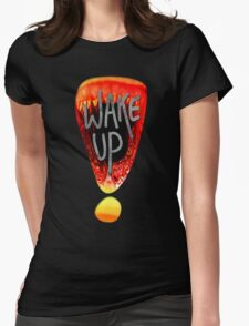 Wake Up - Black Womens Fitted T-Shirt