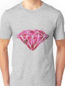 Pink Roses Diamonds Unisex T-Shirt