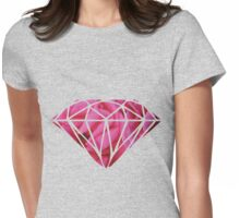 Pink Roses Diamonds Womens Fitted T-Shirt