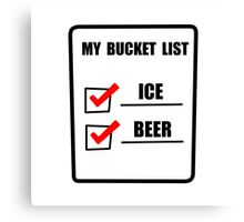 Bucket List Beer Canvas Print