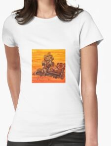 Rusty Robots III Womens Fitted T-Shirt