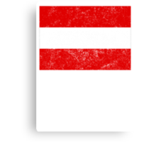 Distressed Austria Flag Canvas Print