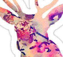 Pastel Patterned Deer Watercolor Design Sticker
