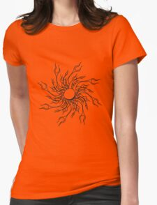 Feuer flammen design  Womens Fitted T-Shirt