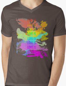 love is love rainbow splatter Mens V-Neck T-Shirt