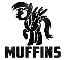 Derpy Hooves - Muffins Photographic Print