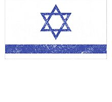 Distressed Israel Flag by kwg2200