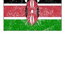 Distressed Kenya Flag by kwg2200