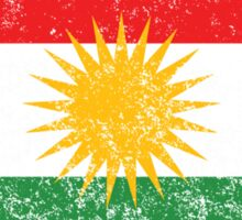 Distressed Kurdistan Flag Sticker