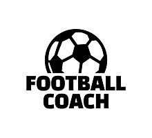 Football coach Photographic Print