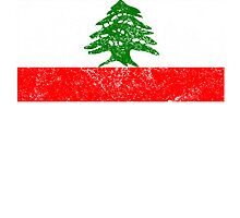 Distressed Lebanon Flag by kwg2200