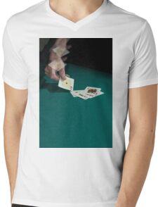 Card shark Mens V-Neck T-Shirt
