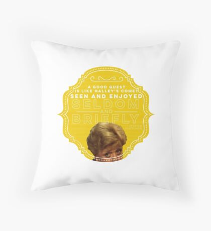 Guest Room Dressing Throw Pillow