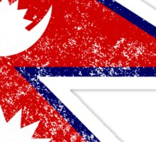 Distressed Nepal Flag Sticker
