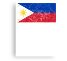 Distressed Philippines Flag Canvas Print