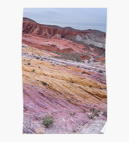 Colorful Layers of Rock at Valley of Fire Poster