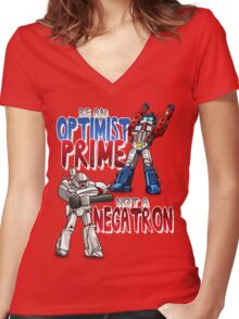 Optomist Prime Women's Fitted V-Neck T-Shirt