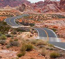 Road Winding through the Desert Southwest by NoblePhotosCard